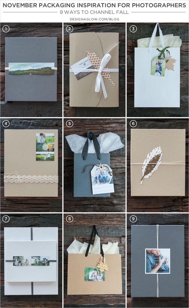 Nov. Packaging Inspiration for Photographers: 9 Fall Ideas #designaglow