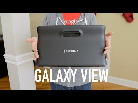 "18"" display, what. Samsung Galaxy View LTE Review! (vs iPad Pro)"