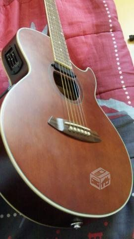 Guitarra electroacustica ibanez y case rigido mbt