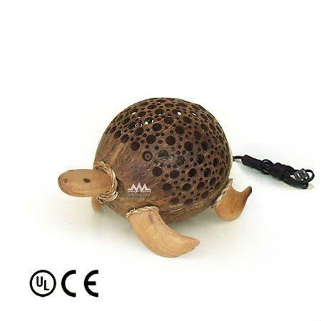 lampe fait de noix de coco tortue image lampe de table et de lecture id du produit 134357845. Black Bedroom Furniture Sets. Home Design Ideas
