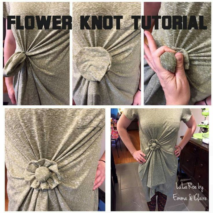 Lularoe carly flower knot tutorial