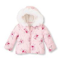 Fairy Print Hooded Puffer Jacket