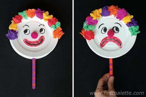 Mr. Happy and Mr. Sad Clown craft