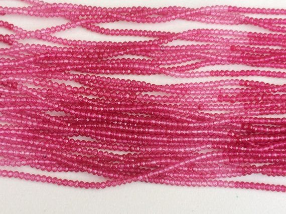 WHOLESALE 5 Strands Pink Shaded Coated Quartz by gemsforjewels
