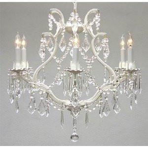 This beautiful Chandelier is trimmed with Empress Crystal(TM)A Great European Tradition. Nothing is quite as elegant as the fine crystal chandeliers that gave s