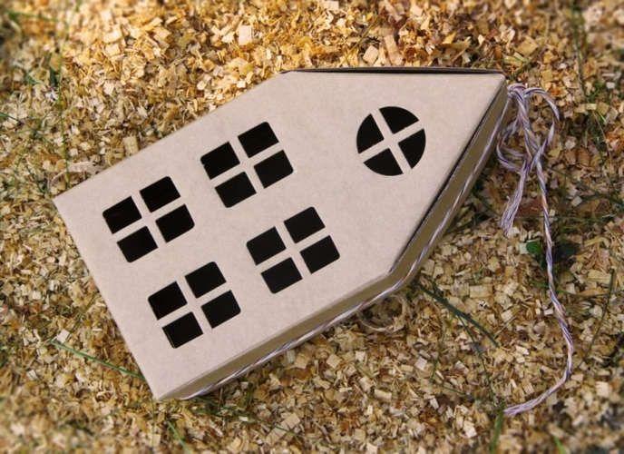 Коробка для подарков Студия упаковки Домик самосборная 11,5*11,5*13см (h23)