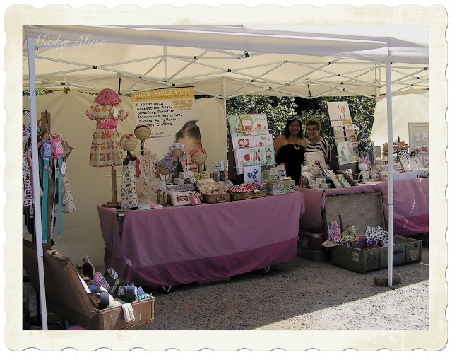 Our stall at The Teddy Bear's Picnic, Ripponlea Estate, 2012. (stall shared with various designers from Kids Style Hub) || #market #festival #event #picnic #teddy #Melbourne #heritage #vintage