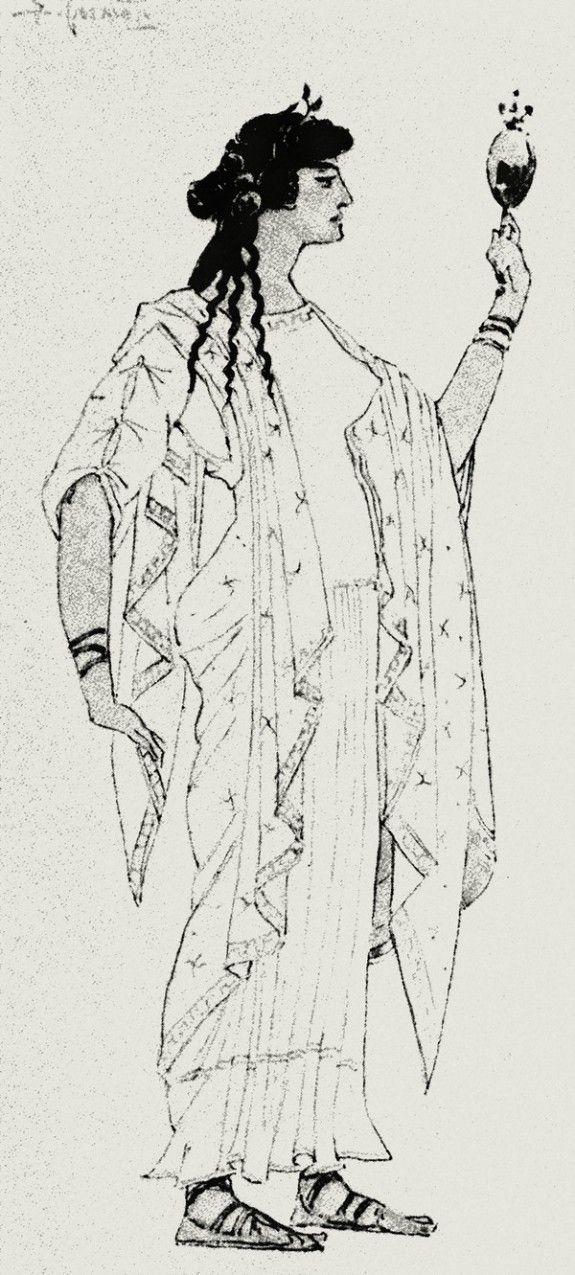 Simov_VA Eskiz kostyuma i grima Elena Prekrasnaya Elena 1913