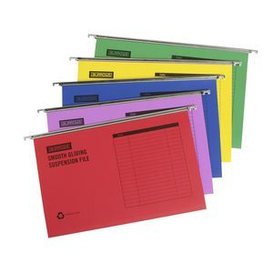 J.Burrows Suspension Files Foolscap Assorted 25 Pack ($26)