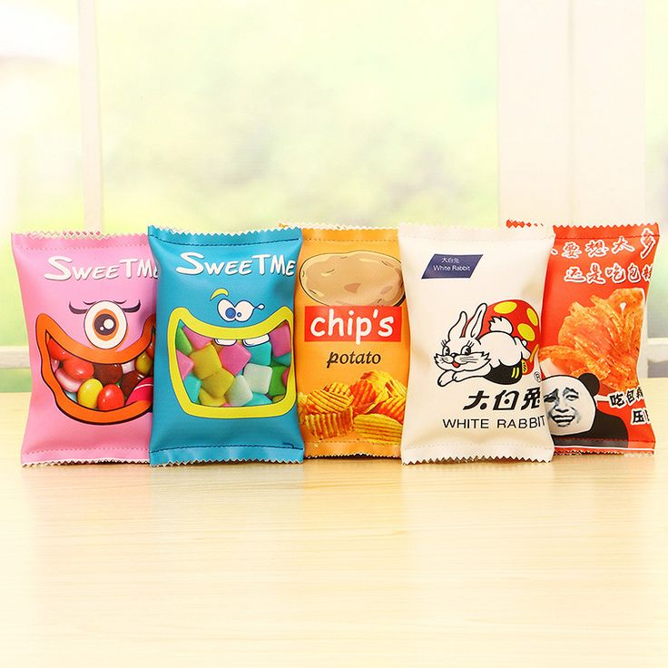 Simulation Potato Chips Packing Bags School Pencil Case Cute PU Leather Pen Bag Kawaii Stationery Pouch Office School Supplies
