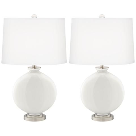 Winter White Carrie Table Lamp Set of 2 - #16K34-X8992-21F21 | Lamps Plus