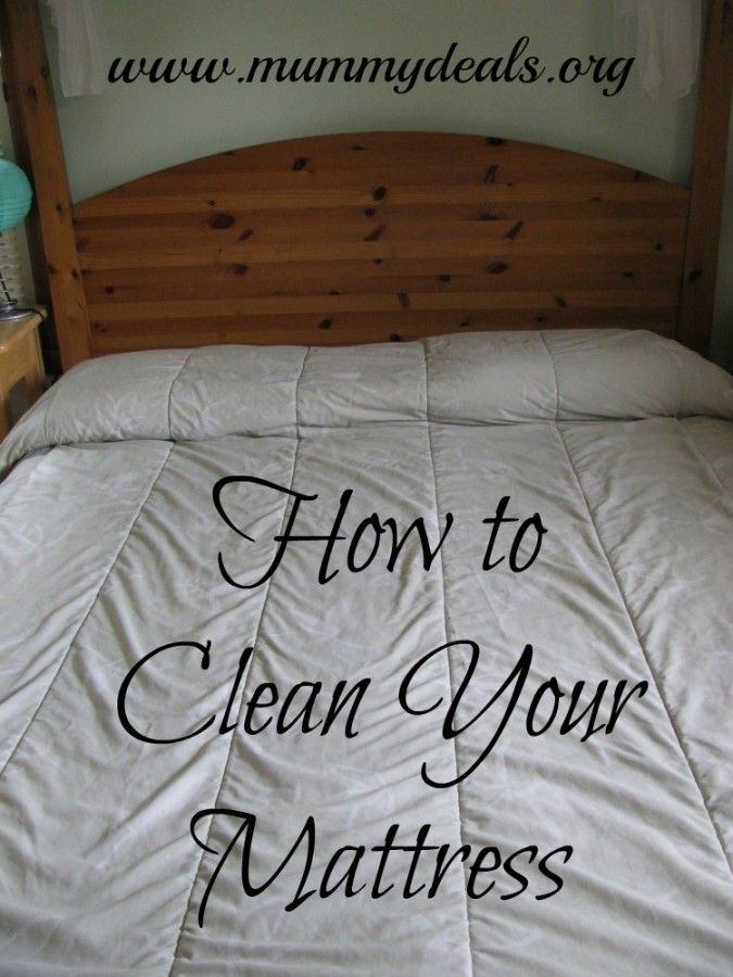 how to clean your soiled mattress