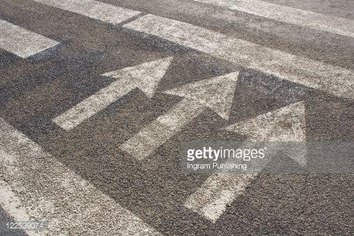 Stock Photo : Road markings