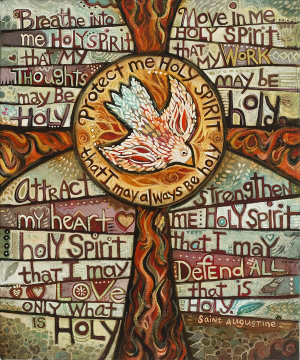 Jen Norton Print featuring the painting Holy Spirit Prayer By St. Augustine by Jen Norton