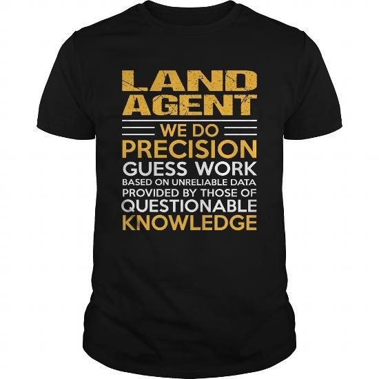 LAND AGENT T Shirts, Hoodies. Get it now ==► https://www.sunfrog.com/LifeStyle/LAND-AGENT-114790313-Black-Guys.html?41382