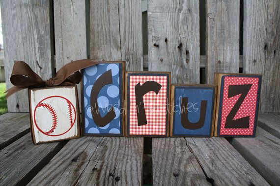 Love this for Wyatt's room. Maybe add a football on the end.
