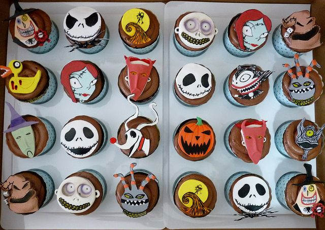 Nightmare before Christmas Cupcakes | halloween cupcakes | Pinterest