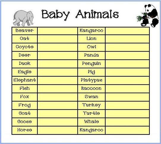 free baby shower game ideas printable