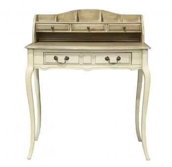 Maisonette Writing Table Cream with hutch. A Block and Chisel Product.