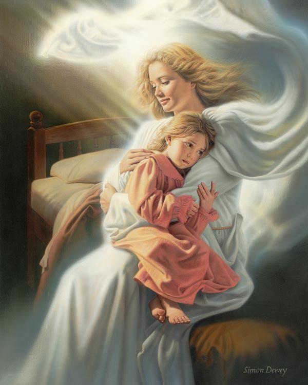 Angels among us, by Simon Dewey
