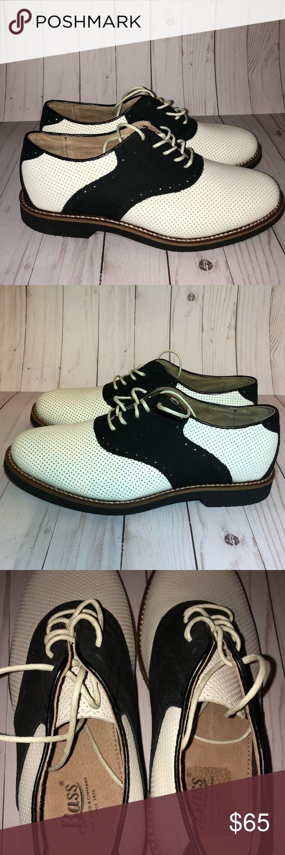 Bass shoes Leather black and white Bass Shoes.   NWOB Bass Shoes Oxfords & Derbys