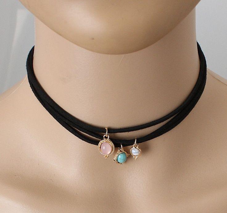 2016 новые ювелирные изделия ретро кружева три кожа веревка бирюзовый ожерелье цепь кости оптом