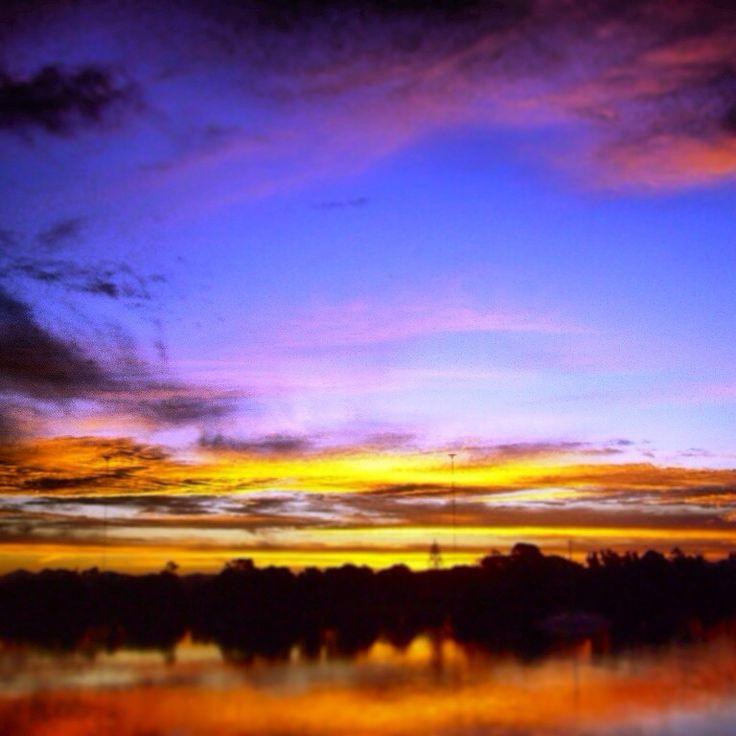 Sunset over my Bellinger River, Mylestom NSW