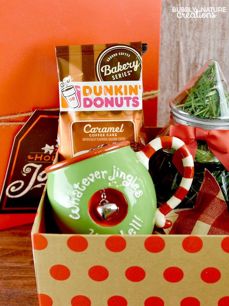 Coffee and donuts christmas gift basket edible christmas