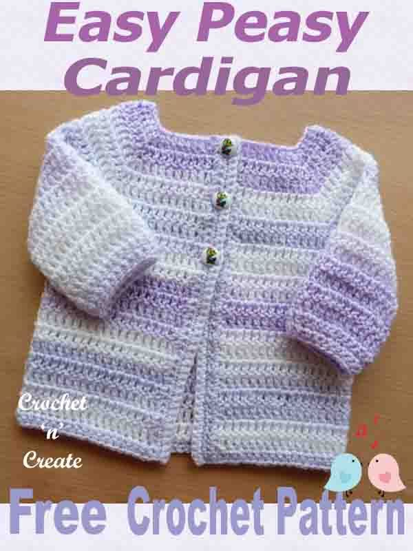 491251877cd2 Easy Peasy Baby Cardigan Free Crochet Pattern