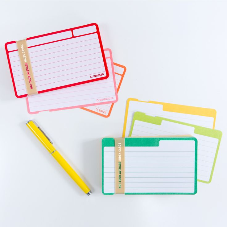 The  Best Index Cards Ideas On   School Study Tips