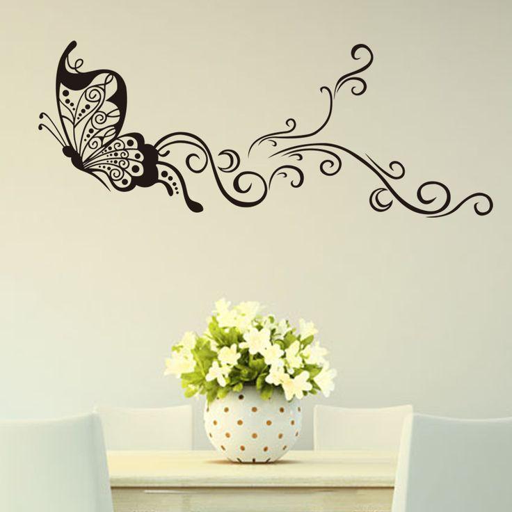 Best Murales Decoración Images On Pinterest Landscapes - Wall decals butterfliespatterned butterfly wall decal vinyl butterfly wall decor
