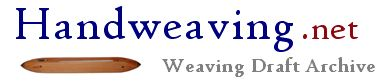 Handweaving.net Weaving Draft and Documents Archive