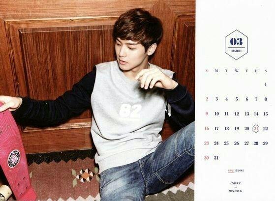 CNBLUE Calendar 2014 March
