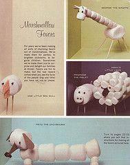 Marshmallow animalsAnimal Kids Crafts, Kids Parties, Fun Food, Crafts Ideas, Kids Stuff, Marshmallows Animal, Marshmallows Favors, Activities, Kids Food