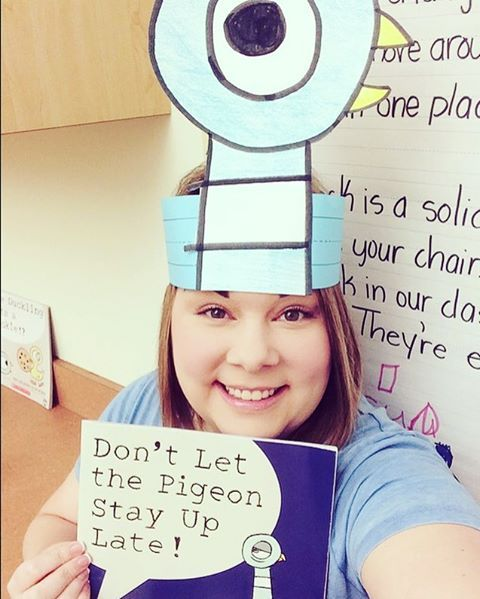 Book Character Dress-up Day. :) #dontletthepigeonstayuplate #mowillems…