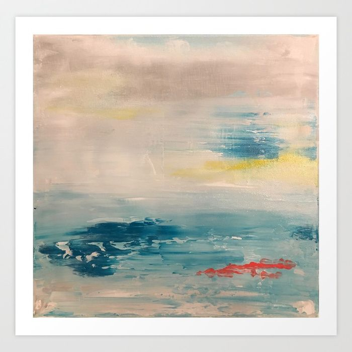A day at Sea Art Print by sophie_lemieux | Society6