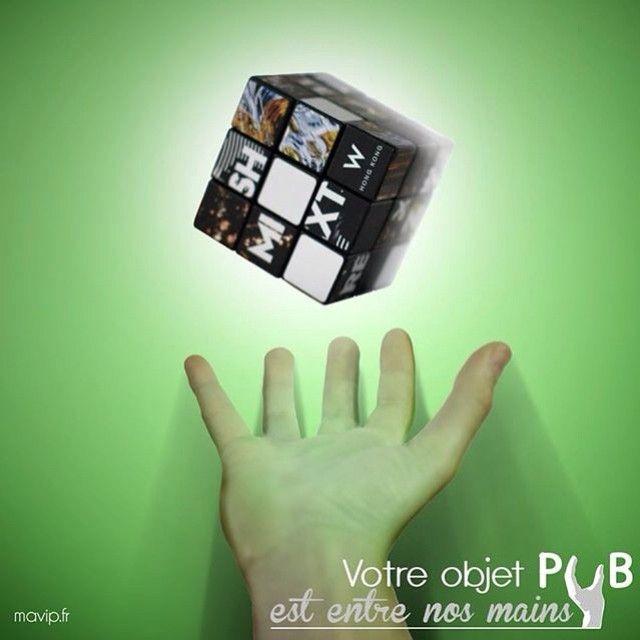 Votre objet pub est entre nos mains - Le mythique Rubik's cube By @vincemls
