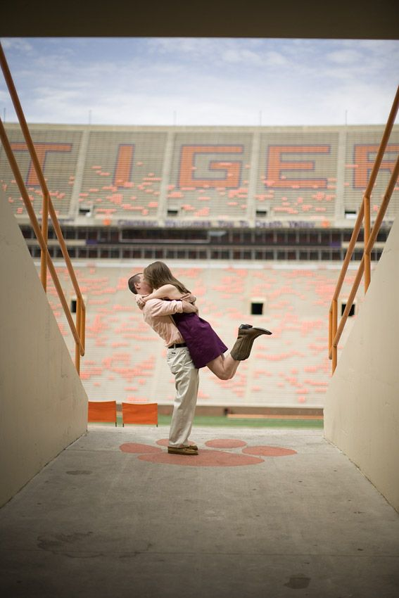 Engagement pictures at Clemson. Umm, a Must-Do! These pictures are absolutely beautiful.