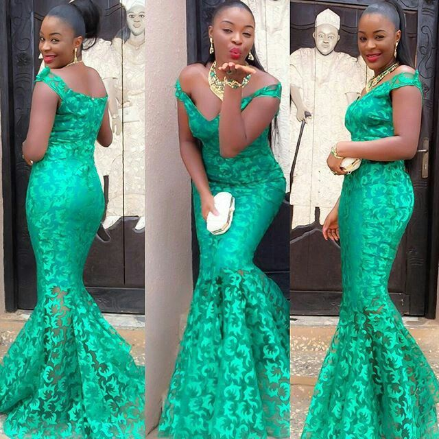 Top Ten Creative Aso Ebi Lace Styles You Should Rock   Dabonke
