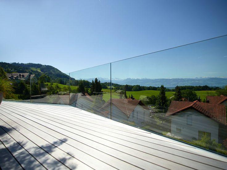 Glasgeländer - pure Sicht