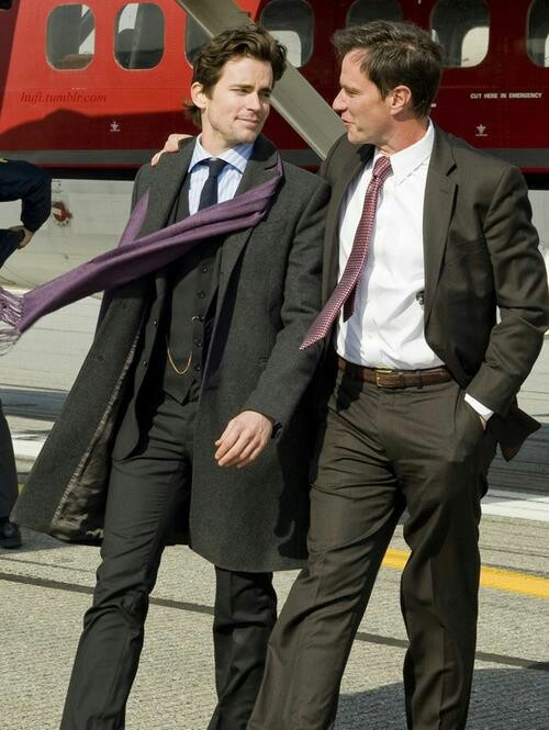 Neal, it's not fair your scarf flies higher than my tie.