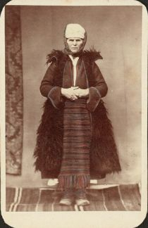Hellenic Genealogy Geek - Family History Research Tools for Greek Genealogy: Where is this costume from? - Photograph - circa 1855 - Woman wearing traditional costume