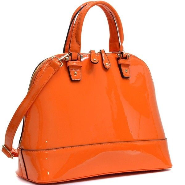 Dasein Zip-Around Flat Bottom Fashion Hand Bag ($43) ❤ liked on Polyvore featuring bags, handbags, shoulder bags, shoulder strap bags, handbag purse, dasein purse, orange purse and pocket purse