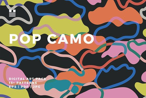 Pop Camo by Hello Mart on @creativemarket