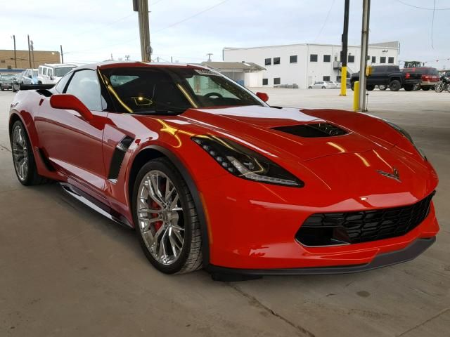 Salvage 2018 Chevrolet Corvette Z06 Coupe For Sale Flood Title