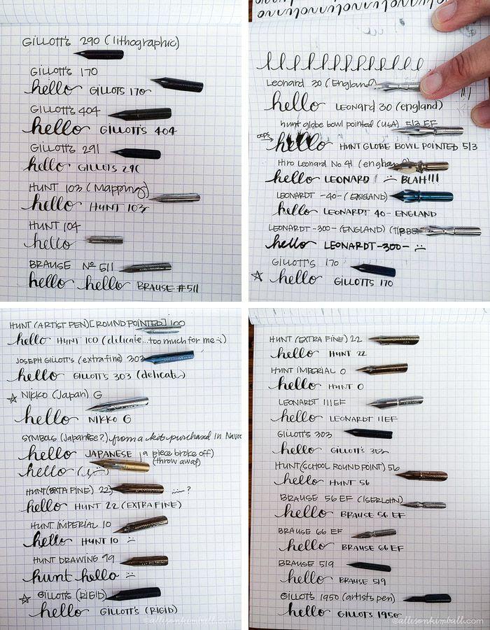 Allison Kimball - Calligraphy Nibs