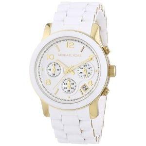 Michael Kors Women's Two Tone Stainless Steel Quartz Chronograph White Dial Watch