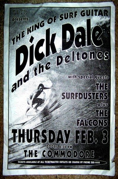 Dick Dale gig poster | Riding The Tiki Surf | Concert ...