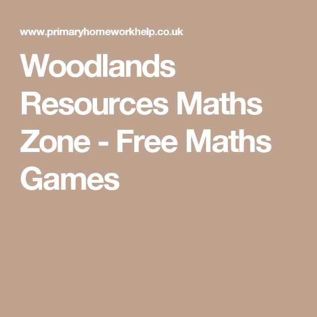 Woodlands Resources Maths Zone - Free Maths Games