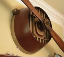 close up of wwi propeller wall hanger - Aviation Decor